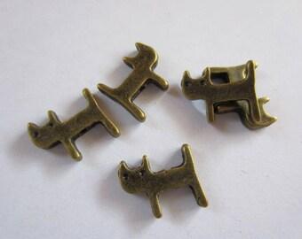5 x Bronze cat meow Meow kitten Pendant