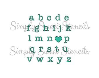 I Love You Alphabet Stencil