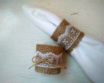 Burlap Wedding Napkin Rings, Rustic Wedding Decor, Rustic Wedding Napkin, Wedding Table Decor, Rustic Wedding, Rustic napkin holder