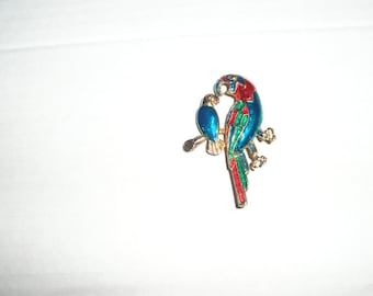 colourful bird brooch