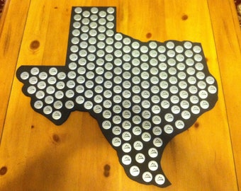 State of your choice bottle cap display holder, pick from the 48 states,  FREE shipping.  A9-14