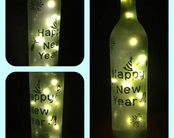 LED cork lighted wine bottle centerpiece Christmas/New Years