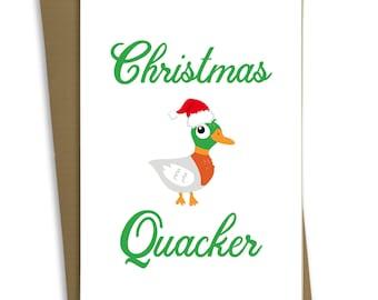 FP0406 Handmade Greetings Card -  Funny Christmas Card