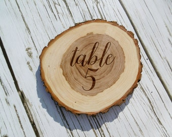 Wedding Table Numbers, Rustic Wood Slice, Laser Engraved, Custom, Personalized, Rustic Wedding, Table Number, Wedding Decor, Barn Wedding
