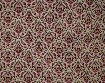 Damask Fabric- Intricate Damask Cotton Fabric by Buttercream Premium Fabric