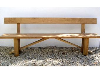 Zen Sustainable Oak Dining Bench with Back