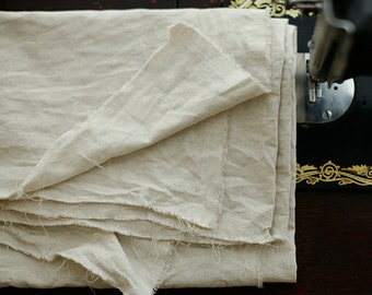 2 Yards of Linen Oxford White Oatmeal Cotton, U2500