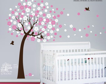 SALE - Cherry tree decals, Cherry tree stickers for nursery,tree wall decals,tree stickers
