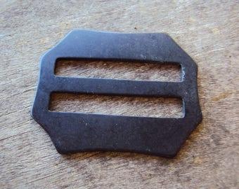 Vintage black plastic buckle
