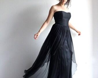 Black wedding dress, Black gown, Gothic wedding dress, Alternative wedding dress, Bridal gown, Silk dress, custom wedding dress, fairy dress