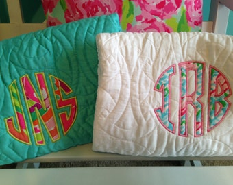Lilly Pulitzer Fabric Monogram Bedding Quilt Comforter and Shams