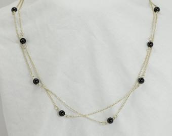 Black Onyx Beaded Necklace