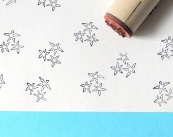 Three Open Stars Rubber Stamp