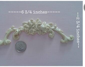Beautiful small rose swag furniture applique! #12