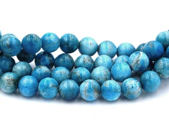 Turquoise Blue Apatite 8mm -15.75 inch strand