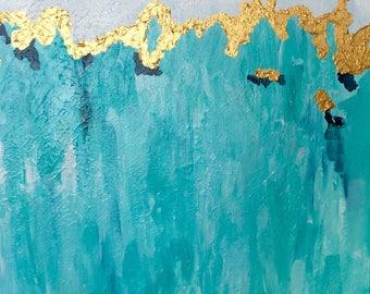 "Acrylic on canvas ""Balearic Horizon"" 50 x 50 cm Modern Art modern style acrylic original abstract painting on canvas"