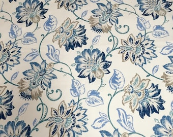New! Curtains, Cotton Curtains, Floral Pattern, Custom Drapes, Pleated Drapes, Window Treatments, Made to Order, *Florida*