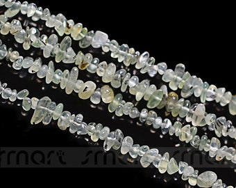 "Natural Prehnite Gem Gravel Loose Gemstone Beads 15.5"" Inches Strand"