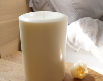 4'' x 6'' Soy Pillar Candle, Choose Your Scent/Unscented