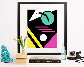 Geometric Abstract Art Print- Persevere