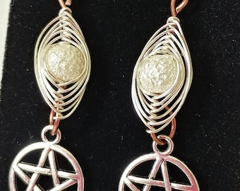 Pentacles and Copper Earrings