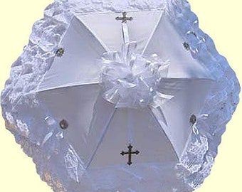 White Cross Lolita Parasol - Ready to Ship
