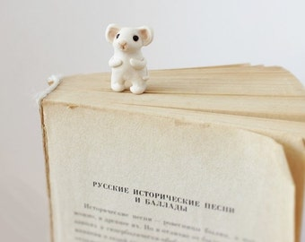 Bookmark planner charm accessories miniature mouse charms book  for planners  metal animal paper clips book for children