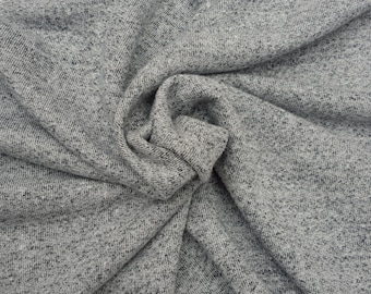 3/4 YARD #sh Novelty Cotton French Terry Fabric - HEATHER GRAY