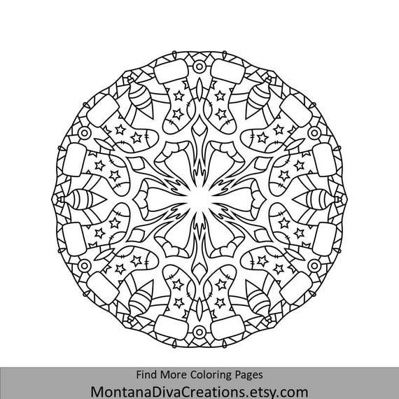 Mandala de invierno para colorear para Imprimir página