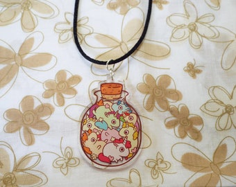 Unicorns in a Bottle Necklace
