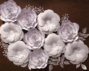 Paper Flower Backdrop, READY TO SHIP, Giant Paper Flowers, Wedding Centerpiece