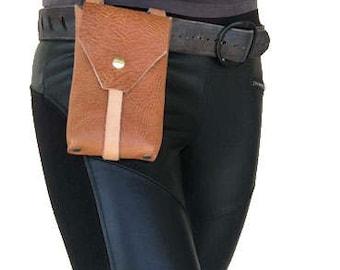 Lt. Brown iPhone belt pouch