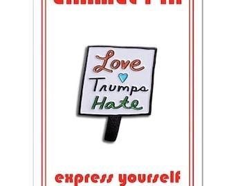 Love Trumps Hate Lapel Pin