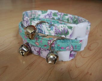 CAT COLLAR spring calicos break away with bell