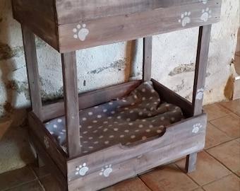 basket double cat/niche customizable wooden