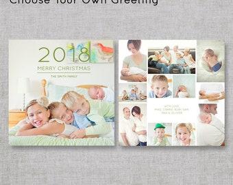 2018 Christmas Cards | Photo Collage Christmas Cards | Photo Holiday Cards | Holiday Cards with Pictures | Custom Christmas Cards | 5x5