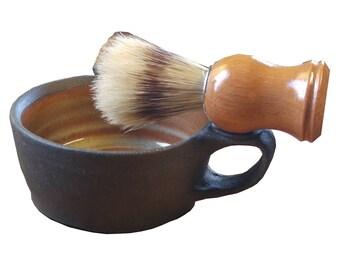 Ceramic Shaving Mug,  Hand Thrown Shaving Mug,   Shaving Mug,  Stoneware Shaving Mug
