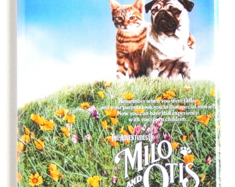 Adventures of Milo and Otis Movie Poster Fridge Magnet