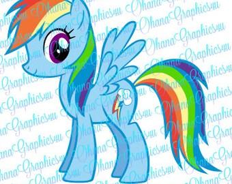 My Little Pony Inspired Rainbow Dash SVG