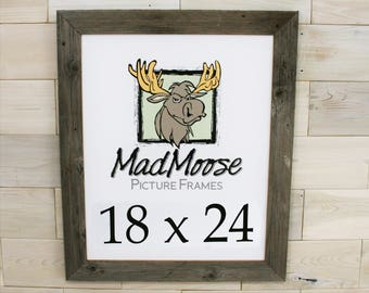 "18x24 Barn Wood [Thin x 2""]  Picture Frame"