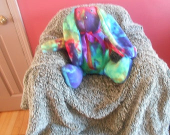 Tie Dye Stuffed Rabbit