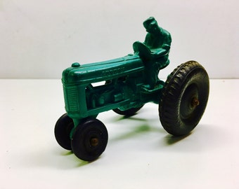 Vintage Auburn Toy Tractor, Rubber Tractor Toy, Vintage Farm Toy - EXCELLENT CONDITION