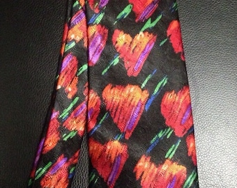 Keith Daniels Abstract Hearts Tie