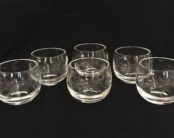 Roly Poly Glasses Mini Roly Poly Glasses Mid Century Roly Poly Glasses