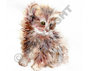Kitten Print, Watercolour, Wall Art