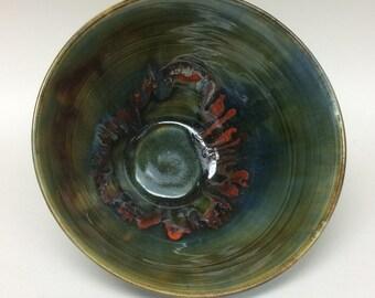 Ceramic bowl, handmade bowl, handmade pottery, pottery, wheel thrown bowl, medium bowl, medium ceramic bowl, ceramic serving bowl