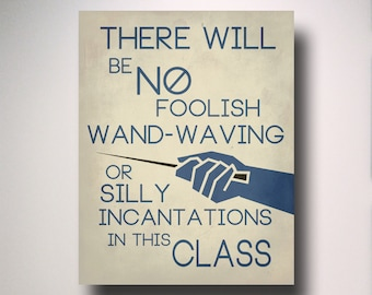 Harry Potter Classroom Poster / Snape Quote / Typography / Teacher Gift / Classroom Poster