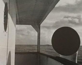 Promenade Deck, MSS Brimanger, Pacific Ocean by John Gutmann