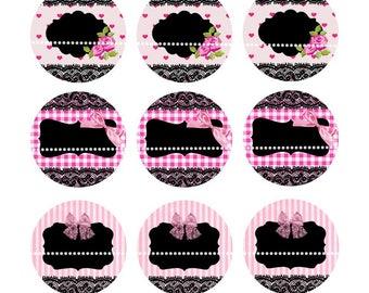world mapINSTANT DOWNLOAD Bottle cap images editable