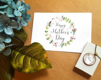 Unique Mother's Day Gift/Card and Necklace/Mom Necklace/Nana/Nonna/Meme/Mimi/Gigi/Grandma/Abuela/Nanny/Mamaw/Mom to Be